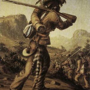 Mfengu with rifle