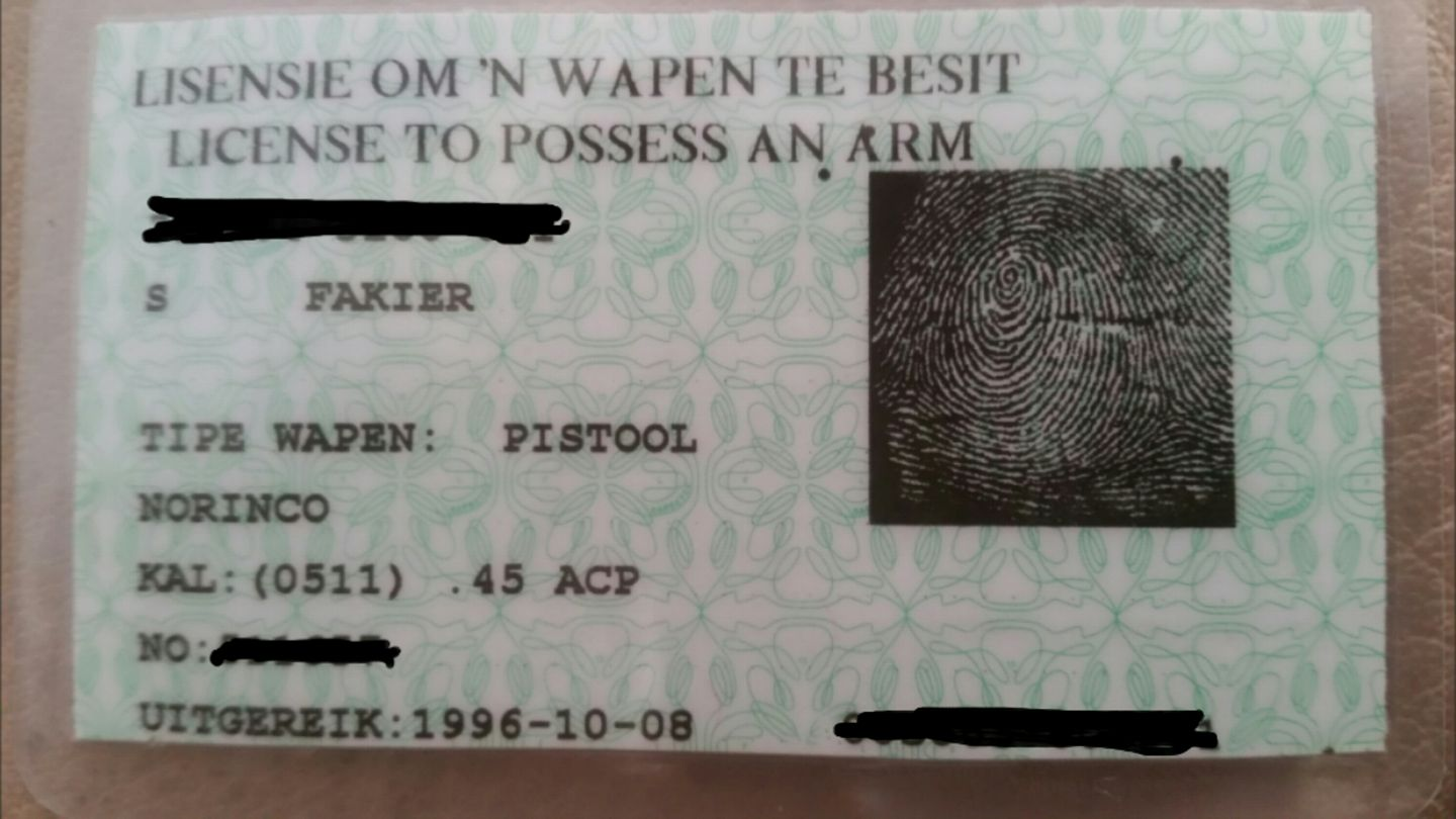 What if I have both a Green Card and White Card firearm licence?