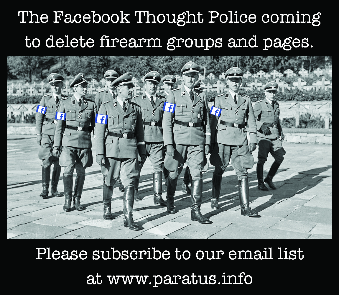 Facebook has Censored the Paratus FB Page until 3 May 2020