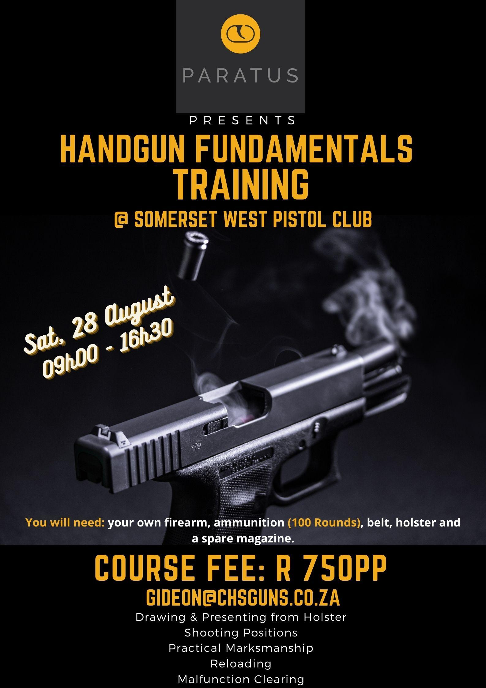 Paratus Handgun Fundamentals Course – Somerset West 28/8